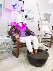 Freecoat Nails Nail Salon Services Pedicure LED Light Therapy